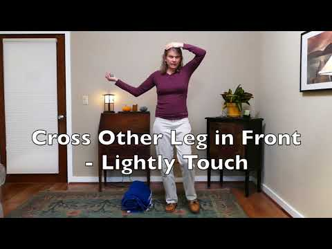 Improve Balance Lesson 1: Sitting, Standing & Walking with Rock & Blanket Roll