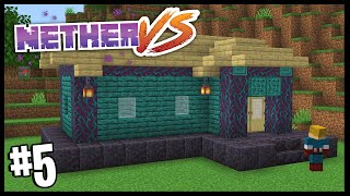 I'M NOT A BUILDER!? •   Nether Vs   Minecraft 1.16 Nether Challenge   #5