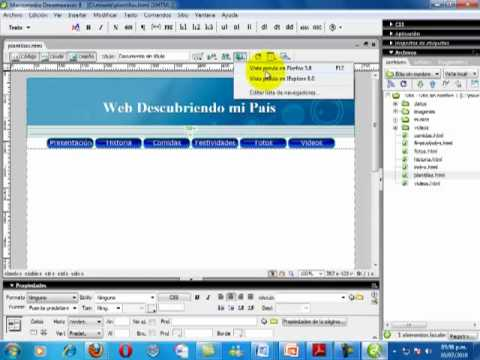 Carrusel de imagenes o slideshow en dreamweaver CS6