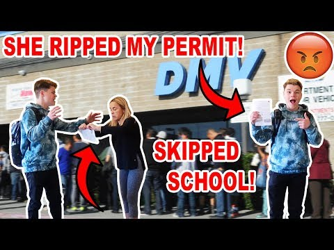 SKIPPING SCHOOL TO GET MY DRIVING PERMIT! *CAUGHT*