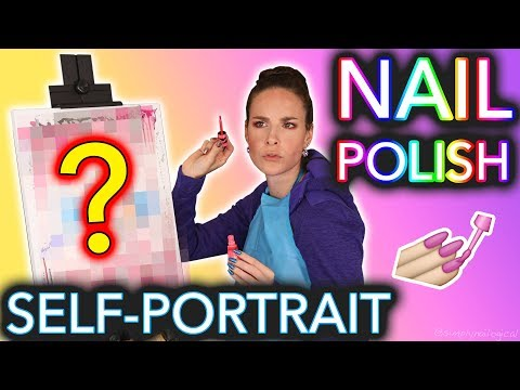 Painting my Self-Portrait with Nail Polish (Bob Ross can bite me)