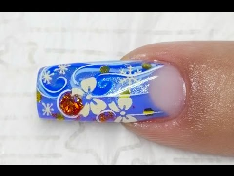 nail art tutorial: dezembro mágico