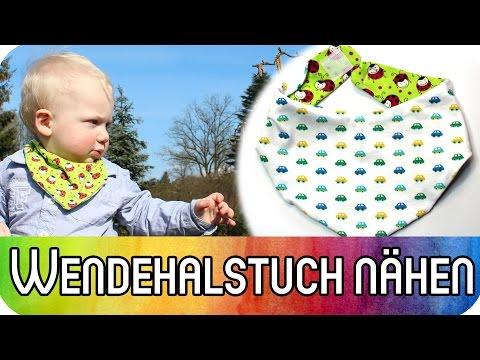 DIY Nähen für Anfänger: Wende-Halstuch (Sabberlätzchen) für Babys und Kinder nähen | kreativBUNT
