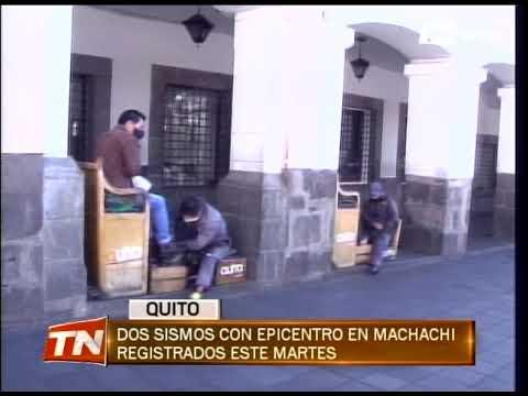 Dos sismos con epicentro en Machachi registrados este martes