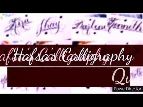 Quratulain name in Calligraphy In beautiful design #hafsa #calligraphy