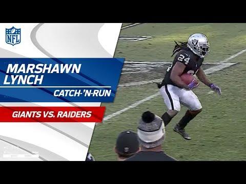 Video: Lynch's Beastly Catch-'n-Run Leads to Washington's TD Run! | Giants vs. Raiders | NFL Wk 13