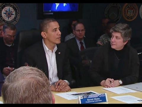 President Obama Speaks at FEMA Headquarters