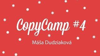 Foto z akcie CopyCamp prednáša Máša Dudziaková.