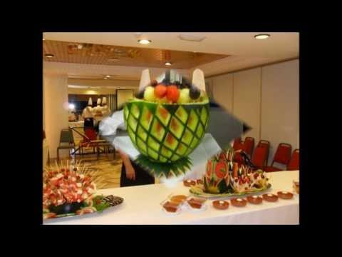 Decoraciones en cortes de verduras y frutas videos for Decoracion con verduras