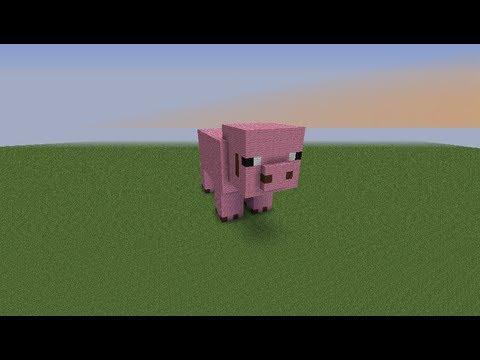 Как создать свинью в майнкрафте