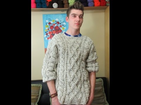 Crochet men's sweater part 2 of 3 - with Ruby Stedman