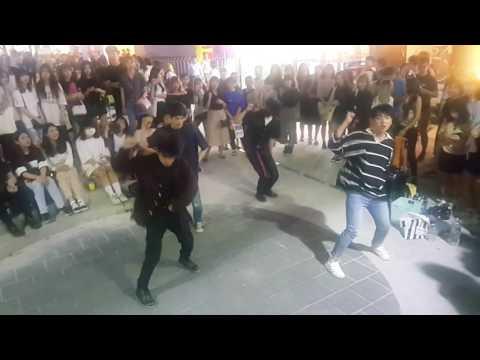 [4TEN 포텐] BTS 쩔어 (Dope) 커버안무 홍대댄스버스킹 20170622목 [Korean Hongdae Kpop Dance Busking]