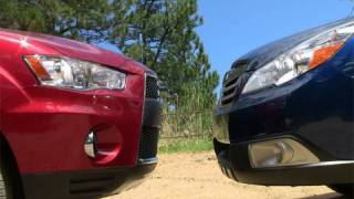 2010 Subaru Outback Vs Mitsubishi  Outlander Off-road Review