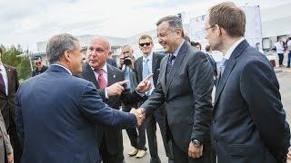 Торжественная церемония открытия распределительного центра Havi Logistics и завода Huhtamaki