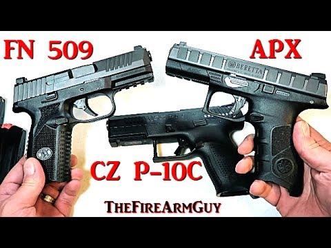 CZ P-10C vs FN 509 vs Beretta APX – TheFireArmGuy