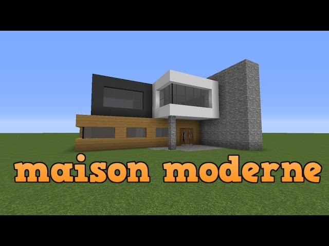 tuto minecraft construire une maison moderne. Black Bedroom Furniture Sets. Home Design Ideas