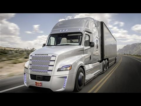 Vezető nélküli Daimler kamion