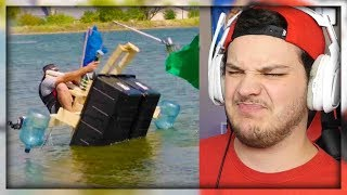 Video Build A Boat Battle | Dude Perfect - Reaction MP3, 3GP, MP4, WEBM, AVI, FLV Oktober 2018