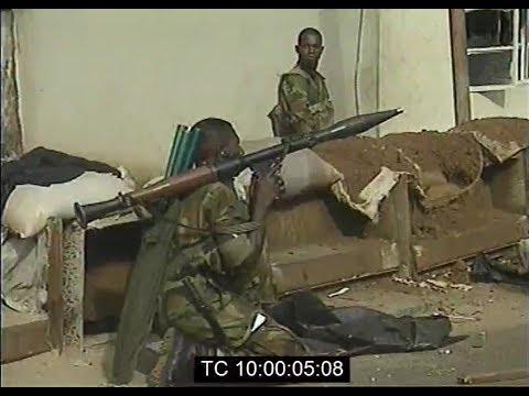 ECOMOG Soldiers Patrol The Streets of Freetown, Sierra Leone   Jan. 1999