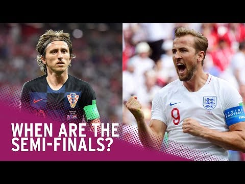 World Cup 2018 Semi-Final Fixtures