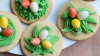 Sugar Cookie Nests Recipe by Home Cooking Adventure