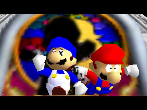super mario 64 bloopers: The Visitor.