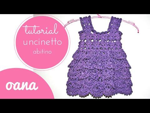 uncinetto - vestito viola da bambina
