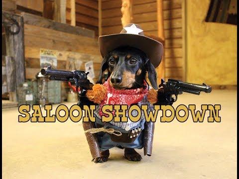 Crusoe Cowboy astelee Saluunaan