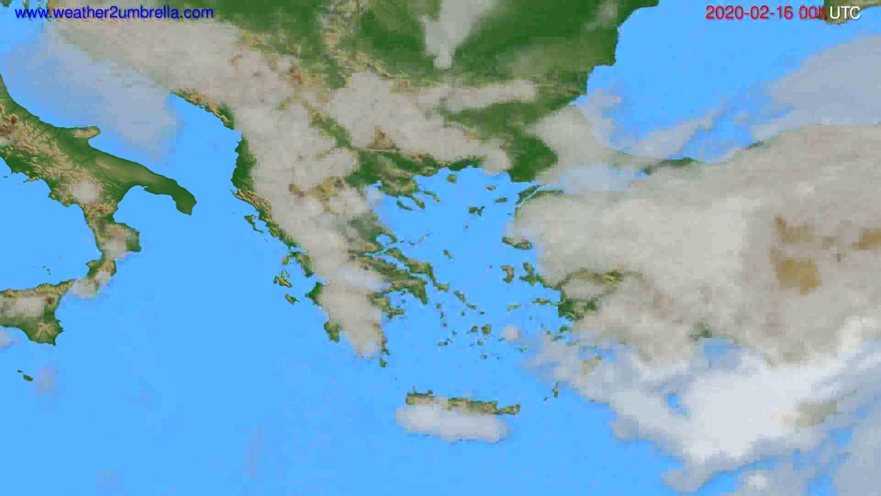 Cloud forecast Greece // modelrun: 00h UTC 2020-02-15