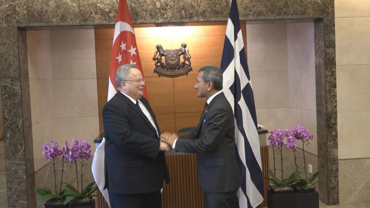 Συνάντηση του Ν. Κοτζιά με τον ομόλογό του της Σιγκαπούρης