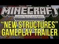 "Minecraft (Xbox 360) - 1.8.2 Update ""New Structures"" GAMEPLAY TRAILER BREAKDOWN + Creative Mode!"