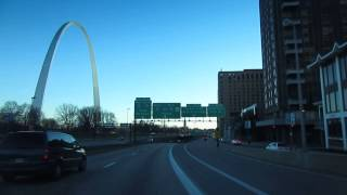 Saint Charles (MO) United States  City pictures : Driving in USA - St. Louis Missouri - Downtown and The Arch