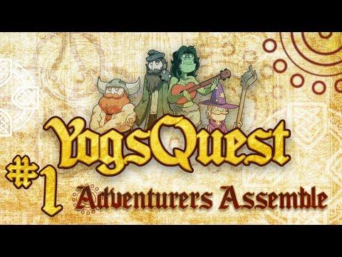YogsQuest Episode 1: Adventurers Assemble - Funny D&D session