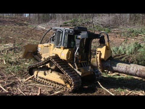Cat 517 Tracked Skidder & Cat 525C Skidder