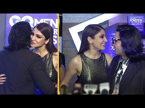 Ranveer Singh & Anushka Sharma HUG At GQ Style Awa