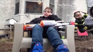 Martian Tim (Jonathan) calls 911 and annoys a Fireman (Ryan)