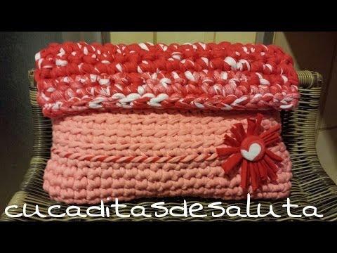 Bolso de Mano a Crochet !! TUTORIAL DIY ¡¡ TRAPILLO ¡¡