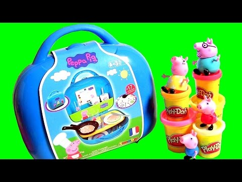 Video Peppa Pig Brincando de Chef de Cozinha com a Mamãe ~ Maletín Cocina Cucina Kitchen Cuisine Kuchnia download in MP3, 3GP, MP4, WEBM, AVI, FLV January 2017