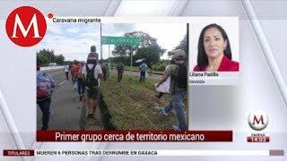 Caravana migrante llega a frontera sur de México