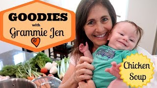 "Today is the first ""Goodies with Grammie Jen"" segment where we share our favorite family soup recipe! This chicken soup from ..."