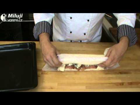 Italský pikantní závin s italskou slaninou - pancettou