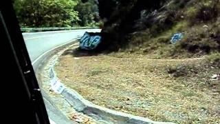 La Route En Montagne Près De Panajachel