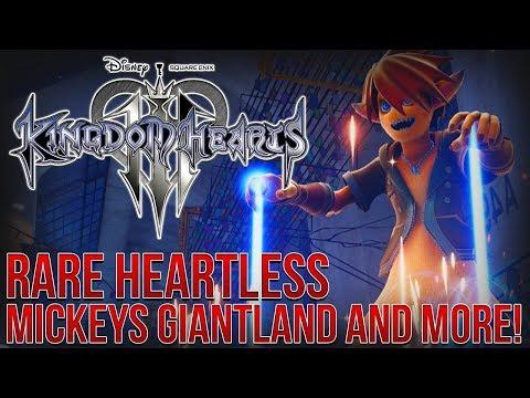 KINGDOM HEARTS 3 - RARE HEARTLESS, MICKEYS GIANTLAND AND WORLD CONTENT