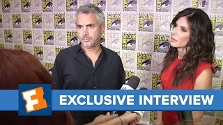 Alfonso Cuaron And Sandra Bullock Comic-Con 2013 Exclusive Interview | Comic Con | FandangoMovies