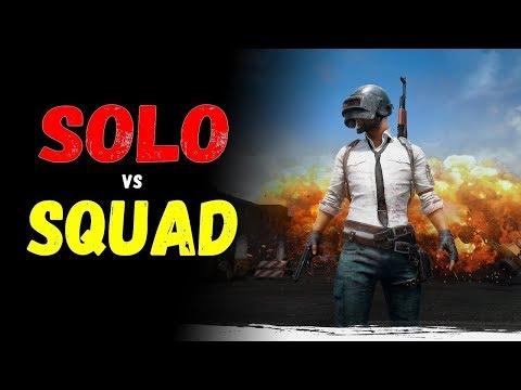 Pubg. Solo vs SQUAD (RU) (видео)