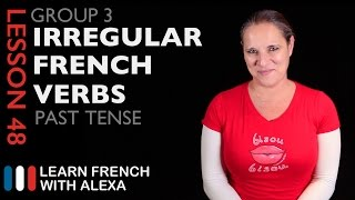 Alexa teaches you Group 3 Irregular French Verbs in the Past Tense - Passé Composé. SUPPORT GUIDE and EXCLUSIVE VIDS at ► https://learnfrenchwithalexa.com----------------------------------------------TAKE YOUR FRENCH TO THE NEXT LEVELMy Website ► https://learnfrenchwithalexa.comSupport me on Patreon ► https://patreon.com/french----------------------------------------------TEST YOURSELF WITH OUR PARTNER KWIZIQPractise conjugating some 3rd group French verbs in the Passé Composé ► https://kwiziq.learnfrenchwithalexa.com/kwiz/take/642404----------------------------------------------USEFUL PLAYLISTSFrench Verb Groups ► http://learnfren.ch/verbgroups----------------------------------------------GET SOCIAL WITH ALEXA AND HER STUDENTSMy Blog ► https://learnfrenchwithalexa.com/blogYouTube ► http://learnfren.ch/YouTubeLFWAFacebook ► http://learnfren.ch/faceLFWATwitter ► http://learnfren.ch/twitLFWALinkedIn ► http://learnfren.ch/linkedinLFWANewsletter ► http://learnfren.ch/newsletterLFWAGoogle+ ► http://learnfren.ch/plusLFWAMy Soundcloud ► https://soundcloud.com/learnfrenchwithalexa----------------------------------------------LEARN FRENCH WITH ALEXA T-SHIRTST-Shirts ► http://learnfren.ch/tshirtsLFWA----------------------------------------------MORE ABOUT LEARN FRENCH WITH ALEXA'S 'HOW TO SPEAK' FRENCH VIDEO LESSONSAlexa Polidoro a real French teacher with many years' experience of teaching French to adults and children at all levels. People from all over the world enjoy learning how to speak French with Alexa's popular online video and audio French lessons. They're fun, friendly and stress-free! It's like she's actually sitting there with you, helping you along... Your very own personal French tutor.Please Like, Share and Subscribe if you enjoyed this video. Merci et Bisou Bisou xx----------------------------------------------Ready to take your French to the next level? Visit ► https://learnfrenchwithalexa.com to try out Alexa's popular French courses.
