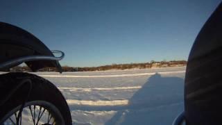 8. Riding a Ural on a Frozen Lake