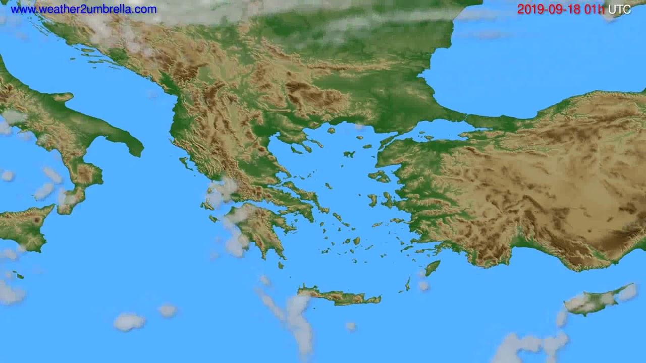 Cloud forecast Greece // modelrun: 00h UTC 2019-09-16