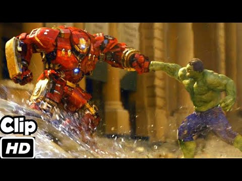 Hulk VS Hulkbuster (Hindi) | Avengers Age of Ultron | Movie Clip 4K HD