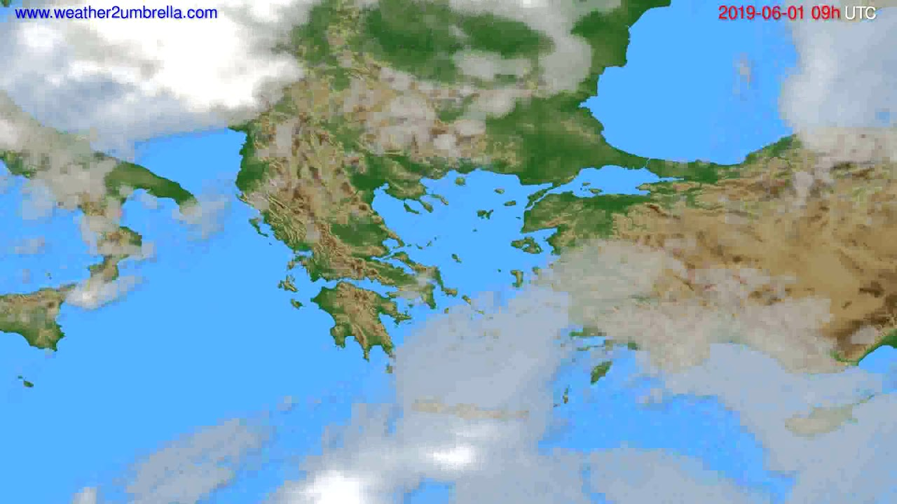 Cloud forecast Greece // modelrun: 12h UTC 2019-05-30